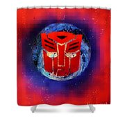 Pixeled Autobot Shower Curtain