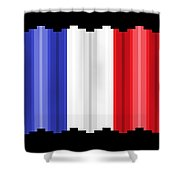 Pixilated Tricolore Shower Curtain