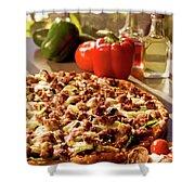 Pizza At Restaurant  Shower Curtain