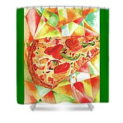 Pizza Pizza Shower Curtain by Paula Ayers