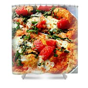 Pizza San Juan  Shower Curtain