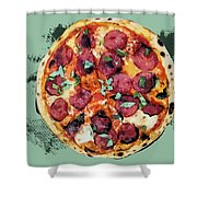 Pizza - The Corleone Special Shower Curtain