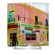 Pizzeria In La Boca Area Of Buenos Aires-argentina  Shower Curtain