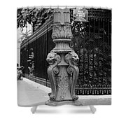 Place Charles De Gaulle - Black And White Shower Curtain