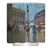 Place De L Opera In Paris Shower Curtain by Georges Stein