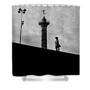 Place De La Bastille - Paris. Shower Curtain