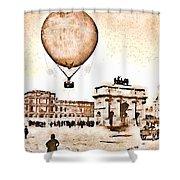 Place Du Carrousel 1878 Shower Curtain