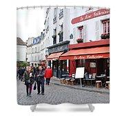 Place Du Tertre In Paris Shower Curtain