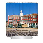 Place Massena Of Nice In France Shower Curtain
