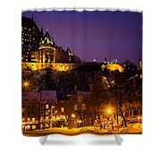 Place-royale At Twilight Quebec City Canada Shower Curtain