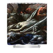 Plague In Marseilles, 1720 Shower Curtain