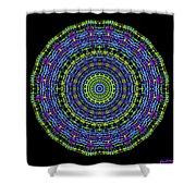 Plaid Wheel Mandala Shower Curtain