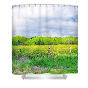 Plain Country Shower Curtain