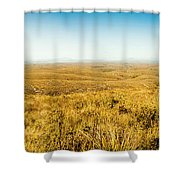 Plain Plains Shower Curtain