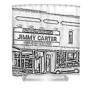 Plains Ga Downtown Shower Curtain