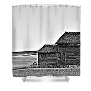 Plains Homestead Bw Shower Curtain