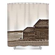 Plains Homestead Sepia Shower Curtain