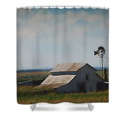 Plains Painted Barn Shower Curtain