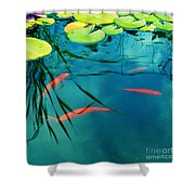 Plaisir Aquatique Shower Curtain