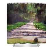 Plantation Road South Carolina Shower Curtain