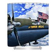 Plane - Curtiss C-46 Commando Shower Curtain