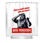 Plane Production Give Us More Shower Curtain