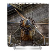 Spirit Of St Louis Propeller Airplane Shower Curtain