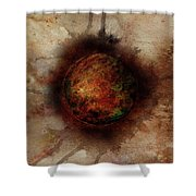 Planetary Breakthrough Shower Curtain