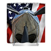 Planes Of Fame P-40c Warhawk Shower Curtain
