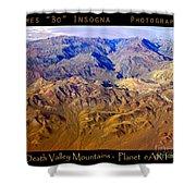 Planet Art Death Valley Mountain Aerial Shower Curtain