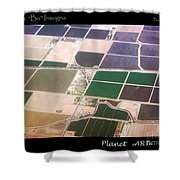 Planet Art Number 4 Shower Curtain
