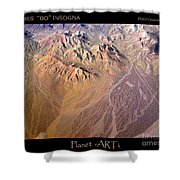 Planet Art Number Three Shower Curtain