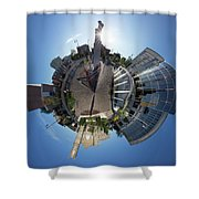 Planet City Hall, Thunder Bay Shower Curtain