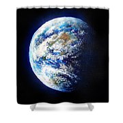 Planet Earth. Space Art Shower Curtain