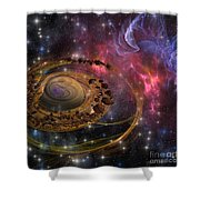 Planet Formation Shower Curtain