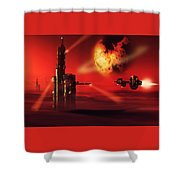 Planet Gholla Shower Curtain
