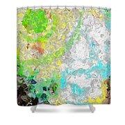 Planet Green Shower Curtain