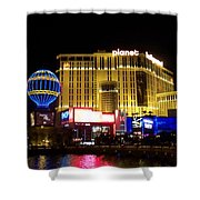 Planet Hollywood By Night Shower Curtain
