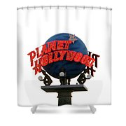 Planet Hollywood Sign Vegas Shower Curtain