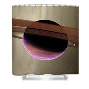 Planet Lenho Shower Curtain