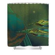 Planet Of Origin Shower Curtain