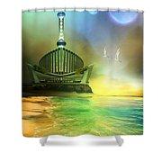 Planet Paladin Shower Curtain