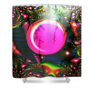 Planet Rainbow Shower Curtain
