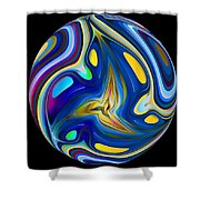Planet Whorl Shower Curtain
