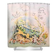 Planetary Chariot Shower Curtain
