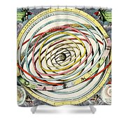 Planetary Orbits, Harmonia Shower Curtain by Science Source