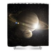 Planetary Ring Shower Curtain