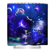 Planetary Sea Shower Curtain