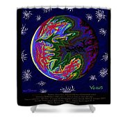 Planets 1 2 3 - Science Shower Curtain