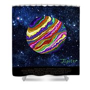Planets 4 5 6 Astronomy Shower Curtain